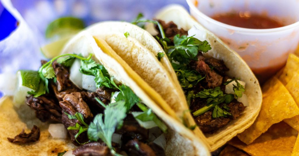 Le Tacos de barbacoa au bœuf